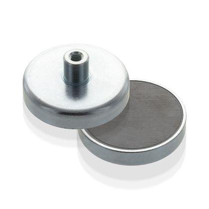 Lapos pot mágnes menetes foglalattal, Fe, economy